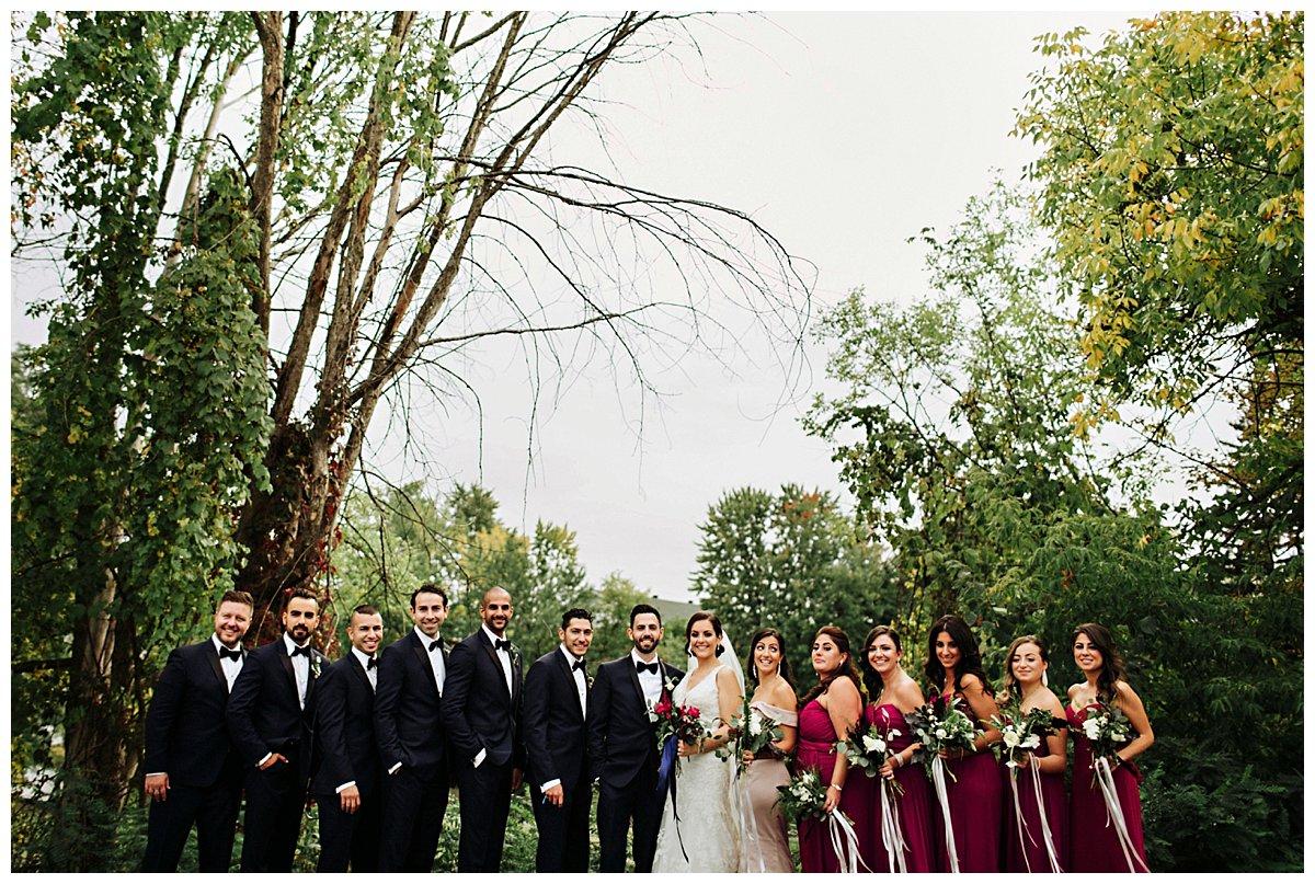Abbaye d'Oka wedding photo