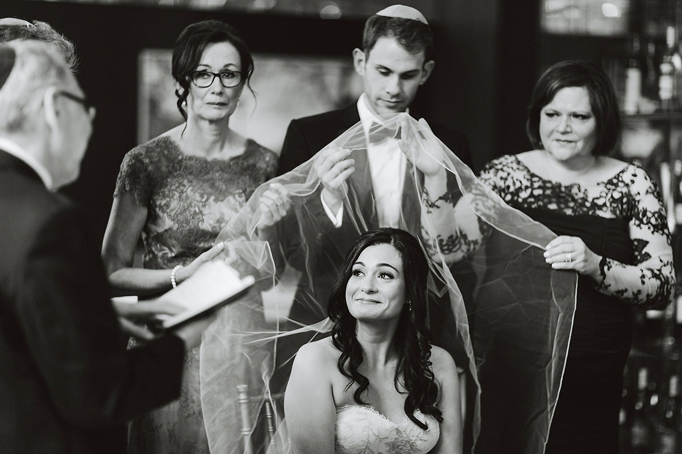 Candid wedding photo from a Montreal wedding