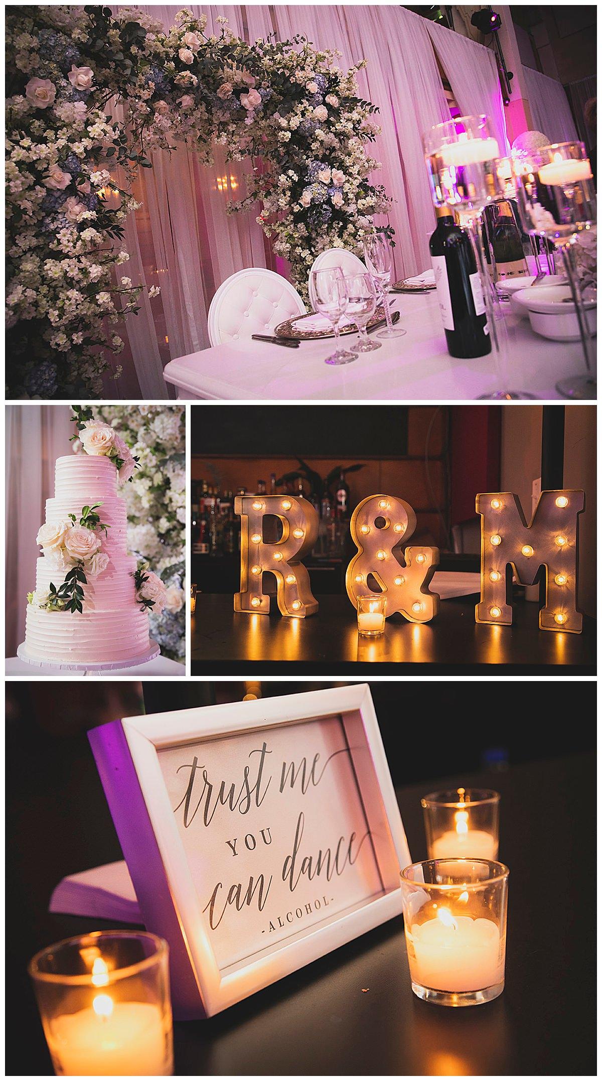 Theatre Paradoxe wedding decor
