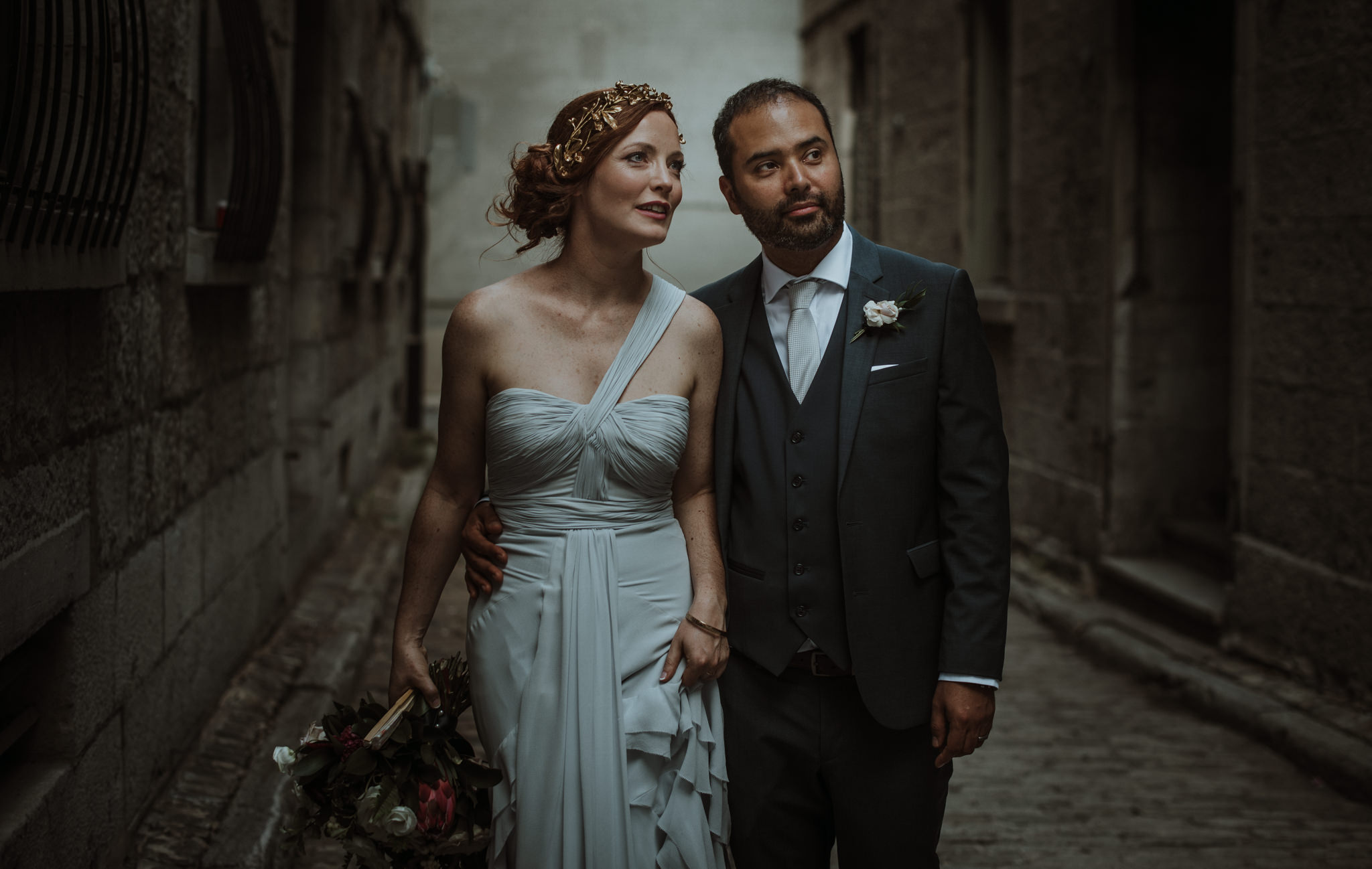irish mexican wedding in old montreal