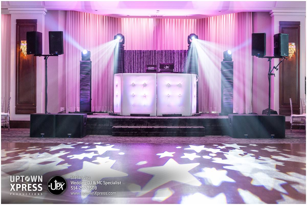 DJ setup for a wedding DJ Montreal